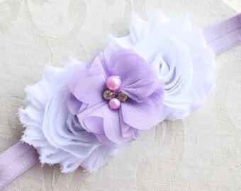 lavender baby headband,lavender headband,purple baby headband, lavender bow,newborn baby headband,girls headband,photoprop headband,headband