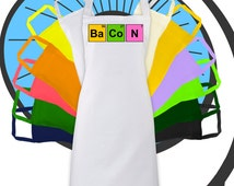 Science Bacon Printed Apron - Meat Eating Diet -  Kitchen - Cook Chef Cooking Gift Present Lifestyle Symbol