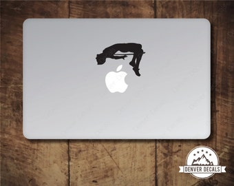 High Jumper Mac Decal Jumping the Apple Macbook Sticker Track and Field