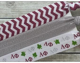 ALPHA PHI Hair Tie or Headband Set