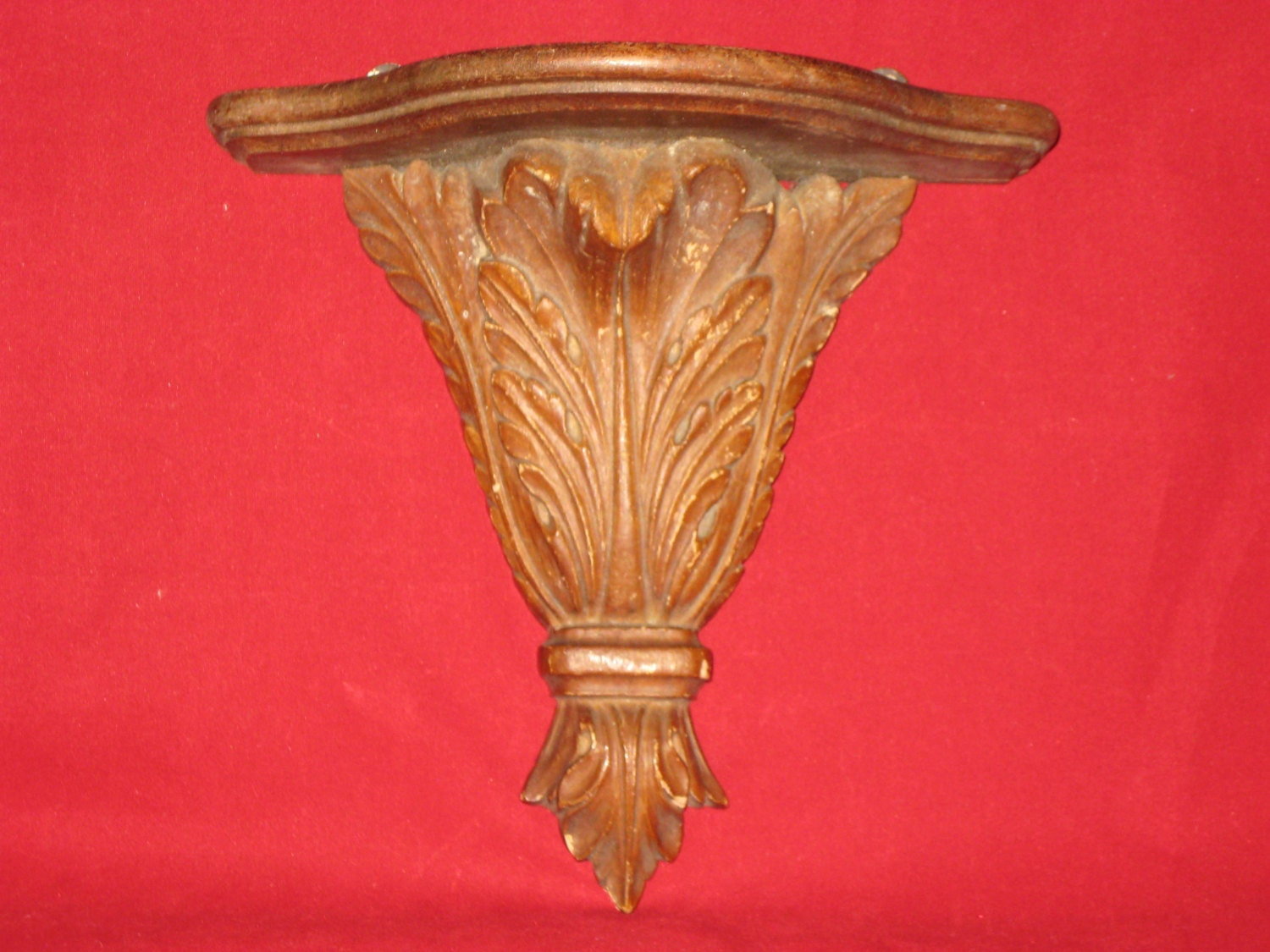 Vintage Carved Wall Sconce/Vintage Shelf/Pedestal Wall Sconce