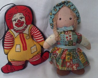 Vintage COLLECTIBLES, 1970s Holly Hobbie Doll, 1977 Ronald McDonald ornament