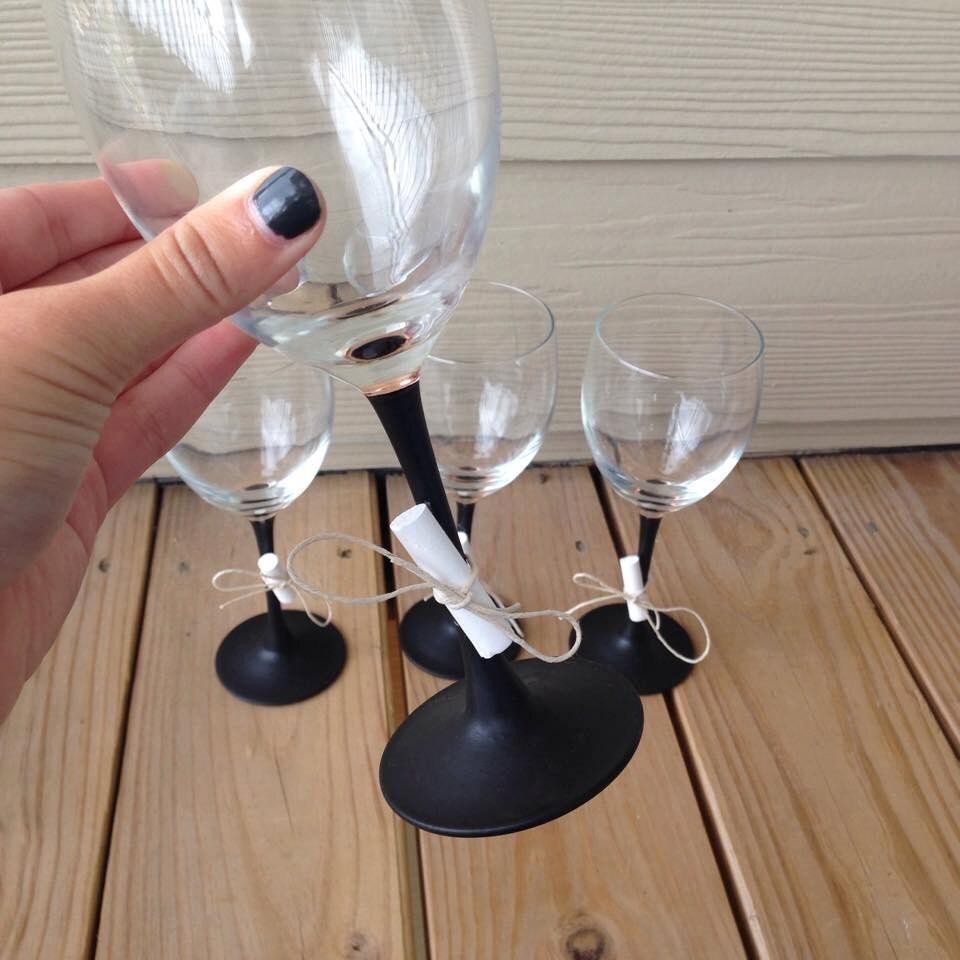 Chalk Paint Wine Glasses Chalkboard Paint Stem Wine By WineItOut