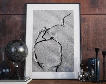 DESERT PHOTO PRINT #3 printable photography, minimalist fine art photography, monochrome wall art