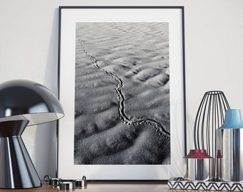 DESERT PHOTO PRINT #2 printable photography, minimalist fine art photography, monochrome wall art
