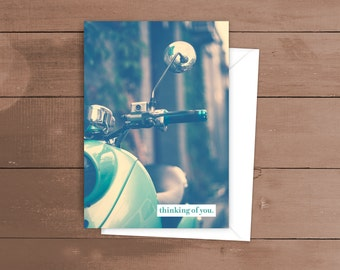 Thinking of You - Scooter - Greeting Card
