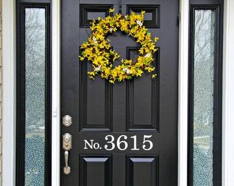 Front Door House Numbers Decal