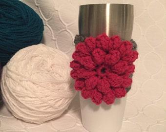 Flower Coffee Cozy