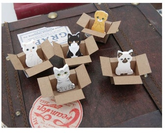 Korean kitty house it sticky memo Daily planner sticker Fun sticky notes Kitty post its