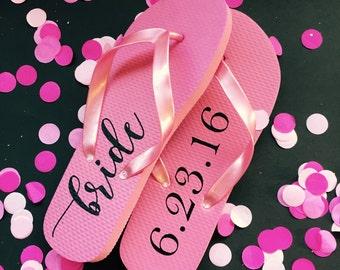Flip Flop Labels, DIY Project, Bride Flip Flops, Flip-Flops, Personalized Flip Flops, Bride Gift, Bridal Shower Gift, Bridal Party Gift