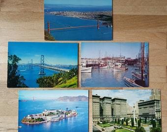 Lot of large-sized vintage San Francisco postcards