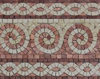 Beautiful Spiral Wave Border Frame Twisted Chain Marble Mosaic BD326