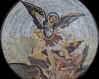 Blessed Angel Saint Christian Religious Marble Mosaic FG904