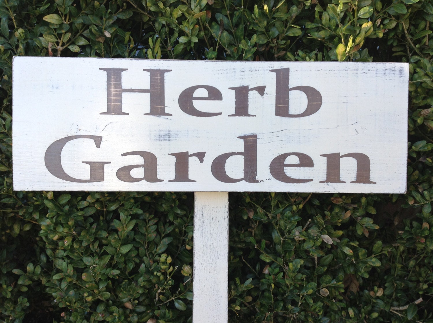 herb garden sign cottage garden sign yard art handmade