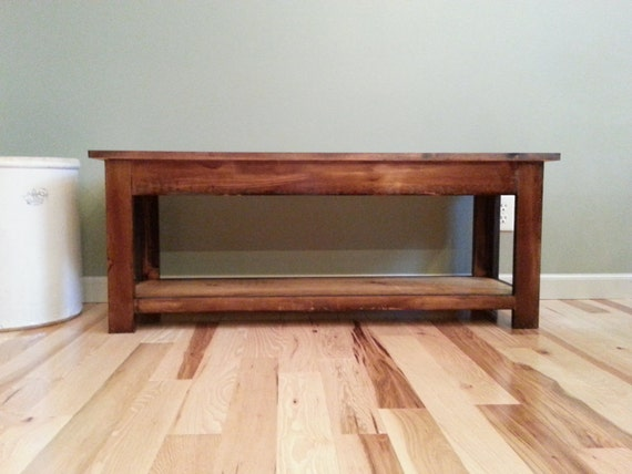 Storage Sitting Bench For Entryway Or Shoes By Fatherofwood