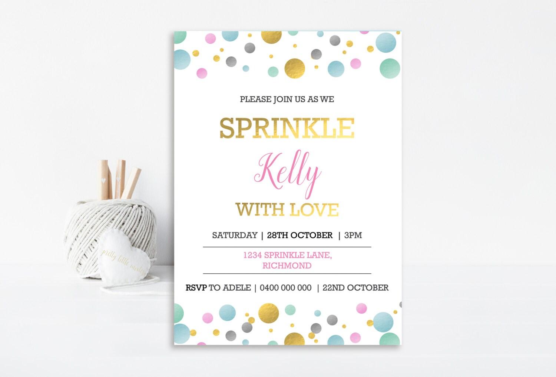 Baby Shower Invitation, Baby Sprinkle Invitation, Sprinkle ...