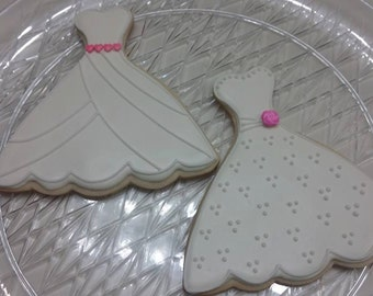Wedding Dress Cookies (includes a variety of styles)