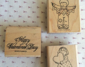 Vintage Stampin up, Love stamp stamp,Valentines ink stamp, Valentines Day stamp, Wooden stamp, Wood mounted stamp