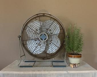Working Industrial Fan / Vintage Electric Fan / Vintage Desk Fan / Electric Fan / Industrial Modern Fan / Metal Fan / Windmaker Fan