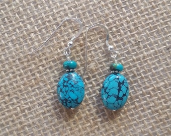 Fine Natural Turquoise Earrings
