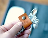 Leather Cable Cord Organizer 3 Pack option available Cable tidy Cord Organiser