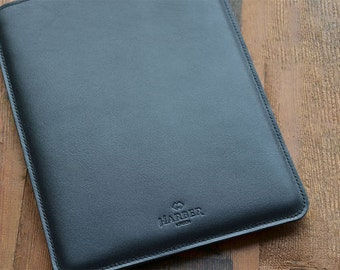 Handmade iPad 2,3,4 Leather Sleeve case and wool felt Cover