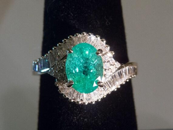 Splendid 14k Yg Blue Green Paraiba Tourmaline And Diamond Ring