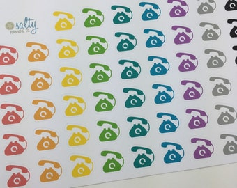 Telephone Call planner stickers