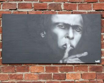"Canvas art MILES DAVIS ART decor, jazz painting Portraits, Painting On Canvas By BARTakaBA Size 19,7""x39,4""(50x100cm) decor wall jazz lover"