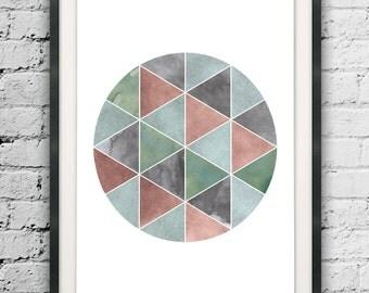 Abstract Circle Printable, Circle Wall Art, Abstract Circle, Textured Art, Art Prints, Nordic Minimal, Scandinavian, Printable Art Posters