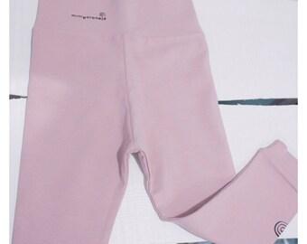 Powder pink jersey leggings