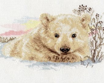 Cross Stitch Kit by Alisa - Northern Bear Cub
