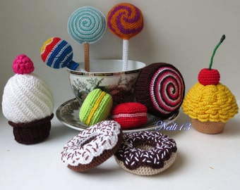 Knitted sweets - A set of 10 sweets