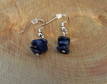 Blue Aventurine Chip Earrings