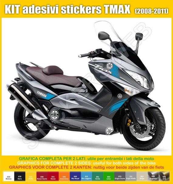stickers moto motorcycle yamaha tmax 2008 2011 t max vinyl. Black Bedroom Furniture Sets. Home Design Ideas