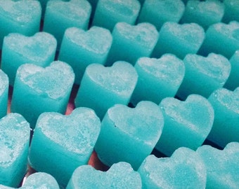 SALE 50 x Cotton clean scented mini heart soy wax melts