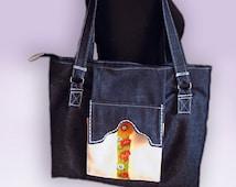 Free shipping!!!Designer ladies, lady's bag, women's purse of handmade, denim bag, shopping, work of authorship
