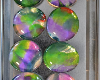 Glass Magnets - Refrigerator magnets - Stained Glass magnets - Teacher Gift