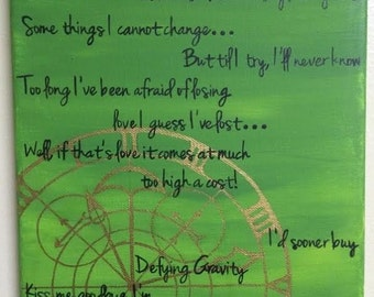 Defy Gravity Wicked Hand Painted Canvas