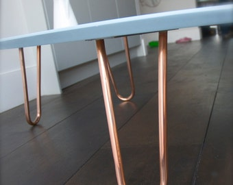 copper hairpin legs etsy. Black Bedroom Furniture Sets. Home Design Ideas