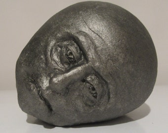 PEWTER, a one-of-a-kind stoneware Apathy Rock