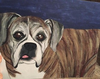 Acrylic Boxer Painting