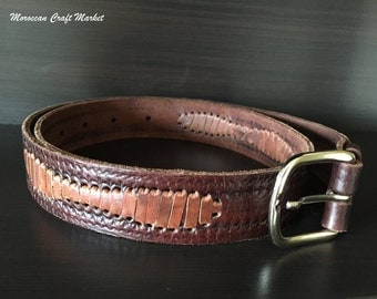 Moroccan Leather Belt