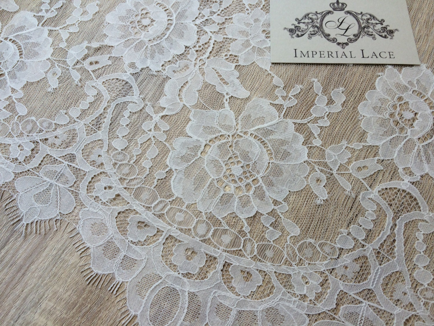 Ivory lace fabric french lace embroidered lace wedding for French lace fabric for wedding dresses