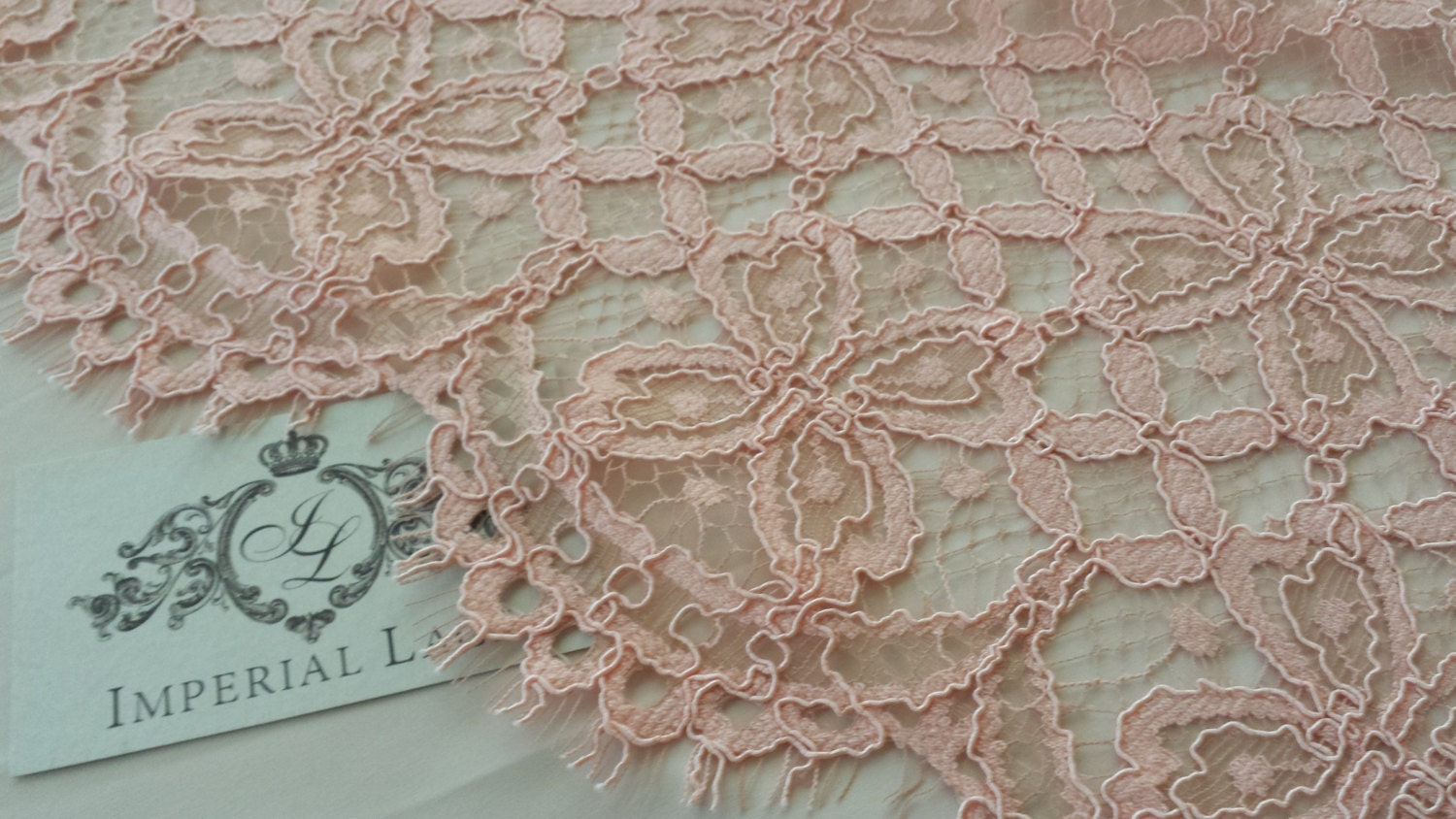 Pink lace fabric French Lace Embroidered lace Wedding Lace