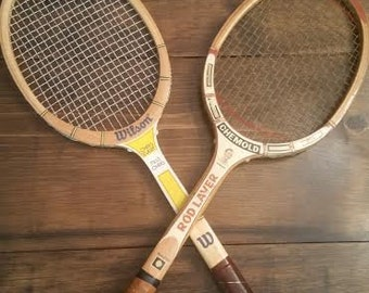 Set Of Vintage TENNIS RACKETS - WOOD Tennis Rackets - Wall Hanging Tennis Rackets - Retro Sports - Sports Decor - Vintage Sports - Tennis