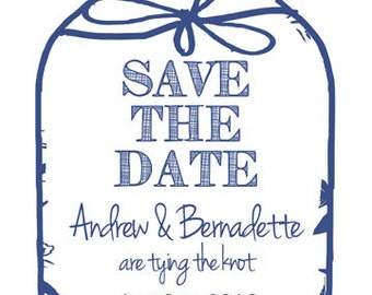 Tying the Knot Mason Jar Save the Date