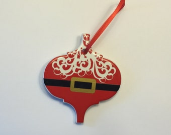 Santa Claus Ornament, Santa Tile Ornament