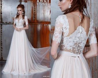 Wedding dress ADELIAS, bohemian wedding dress, long sleeve wedding dress, long sleeved wedding dress, bridal gown