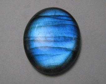 Blue labradorite cabochon oval shape loose semi precious gemstones cabochons size 28 x 34 mm approx code-lb049